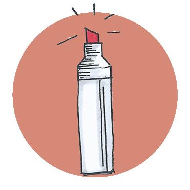 tekening stift icoon Winkel communicatie