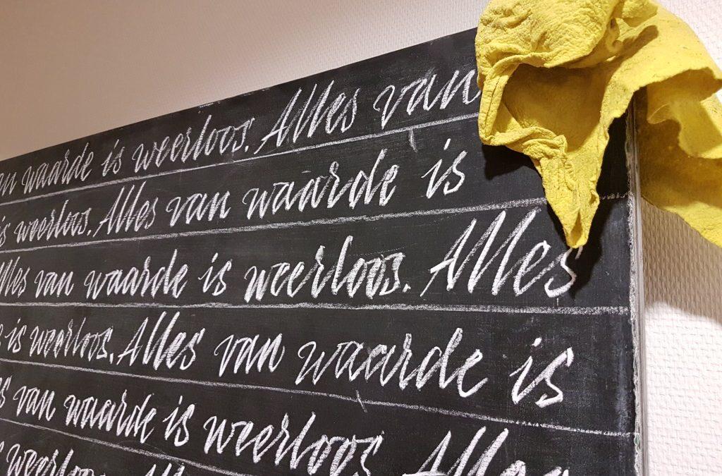 Ode aan het KRIJT! Kunsthal KaDe in Amersfoort.