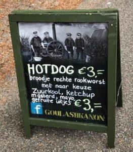 Krijtbord Hotdog