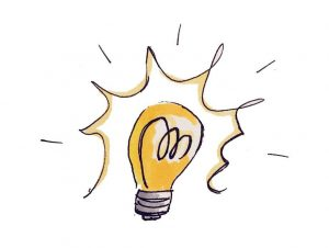 tekening lampje workshop Etaleren & presenteren