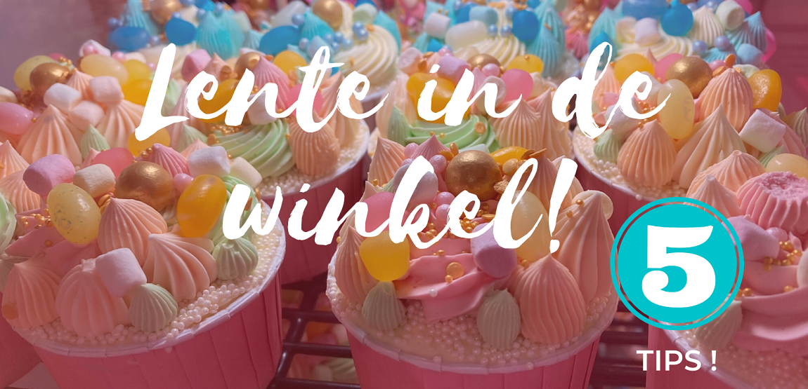 Lente in je winkel cupcakes