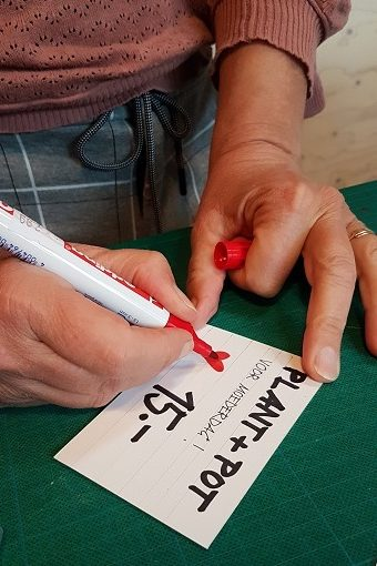 prijskaart schrijven