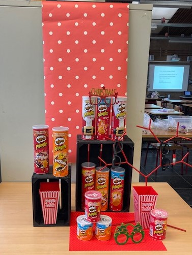 product presentatie gemaakt door een leerling