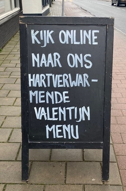 krijtbord valentijn